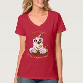 Om oude en wijze Uil te zijn T Shirt