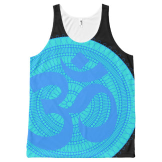 Om van de Hindi Mouwloos onderhemd All-Over-Print Tank Top
