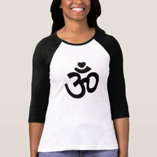 Om van het hart Teken - de Bovenkant van de Yoga T Shirt