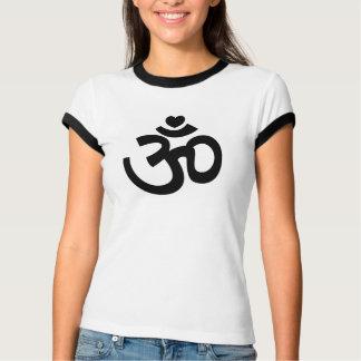 Om van het hart Teken - de T-shirt van de Yoga