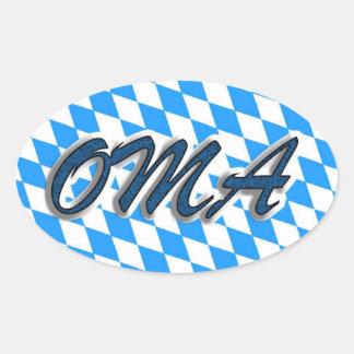 Oma Bierkrug Ovale Sticker