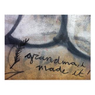 oma, maakte ik het! graffiti briefkaart