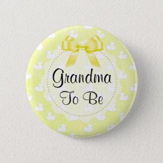 Oma om de Gele Boog en Knoop van babyEenden te Ronde Button 5,7 Cm
