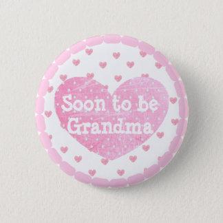 Oma om de Roze Knoop van het Baby shower van Ronde Button 5,7 Cm