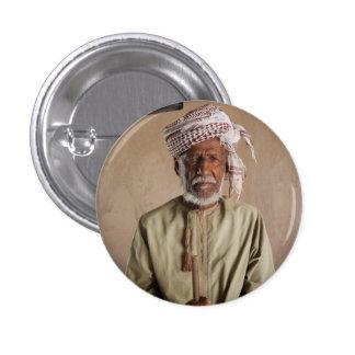 Omani Strijder: Koele Vintage Foto Ronde Button 3,2 Cm