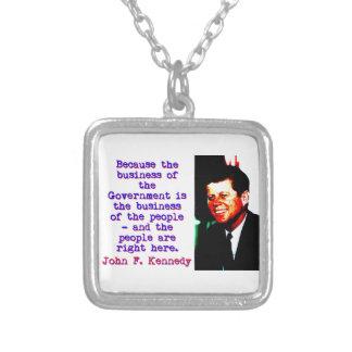 Omdat de Zaken - John Kennedy Zilver Vergulden Ketting