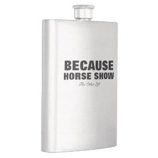 Omdat het Paard Fles toont Heupfles