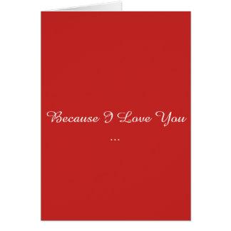 Omdat ik van u houd kaart