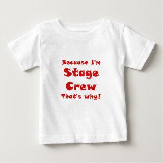 Omdat Im Bemanning van het Stadium die waarom is Baby T Shirts