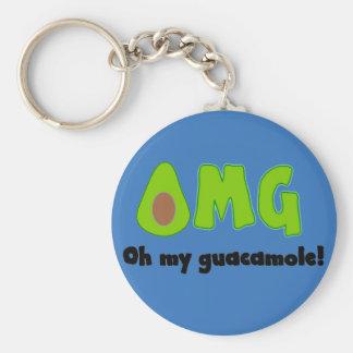 OMG Oh Mijn Guacamole - Grappige Keychain Sleutelhanger