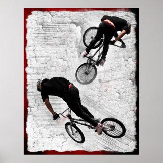 Omgekeerde BMX, Copyright Karen J Williams Poster