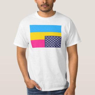 Omgekeerde pansexual vlag met uniesterren t shirt