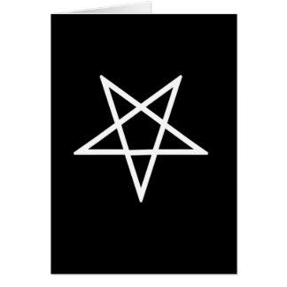 Omgekeerde Witte Pentagram Kaart