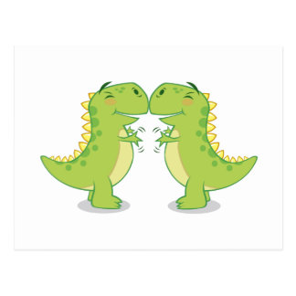 Omhelzing t-Rex… zo dicht Briefkaart