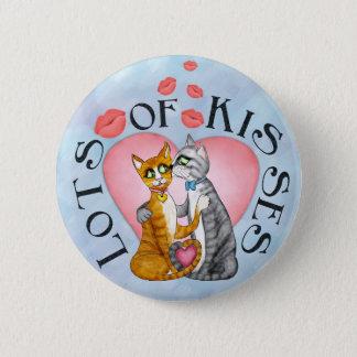 Omhelzingen en kussen voor liefje ronde button 5,7 cm