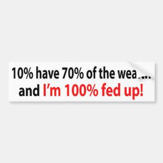 omhoog gevoede 100%! bumpersticker