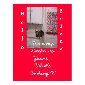 Omhoog het koken van de Prentbriefkaar van de Pret Briefkaart