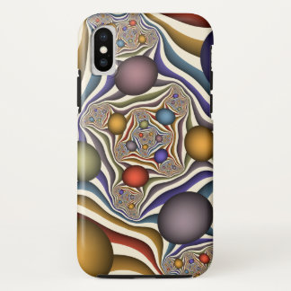 Omhoog vliegend, Kleurrijk, Modern, Abstract iPhone X Hoesje