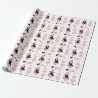 Omslag van de Valentijnsdag van de Rozen van de Inpakpapier