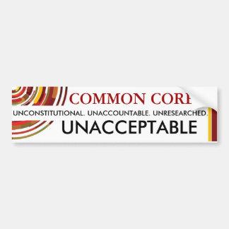 Onaanvaardbare Gemeenschappelijke Kern Bumpersticker