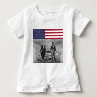 Onafhankelijkheid Dag George Washington Abraham Romper