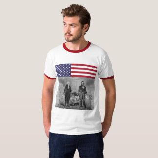 Onafhankelijkheid Dag George Washington Abraham T Shirt