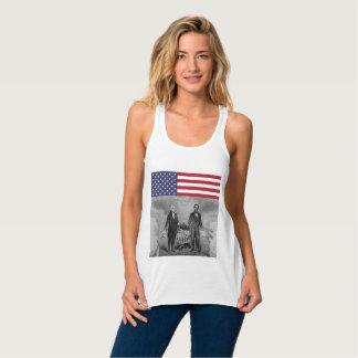 Onafhankelijkheid Dag George Washington Abraham Tanktop