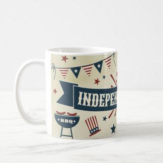 Onafhankelijkheid vierde van de patriottische de koffiemok