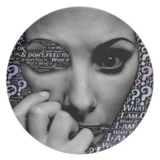 onbekend gezicht melamine+bord
