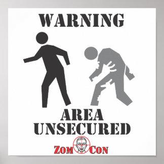 Onbeveiligd gebied poster
