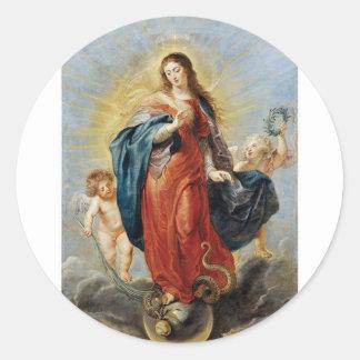 Onbevlekte Ontvangenis - Peter Paul Rubens Ronde Sticker