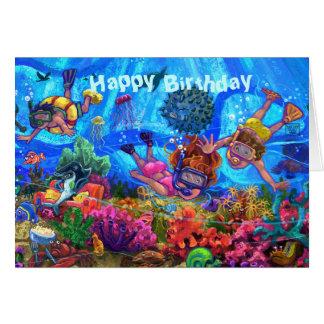 Onder de Kaart van de Verjaardag van het Zee