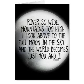Onder het Zelfde Gedicht van de Maan Wenskaart