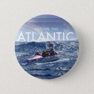 Onder ogen ziend de Atlantische Oceaan - Ronde Ronde Button 5,7 Cm