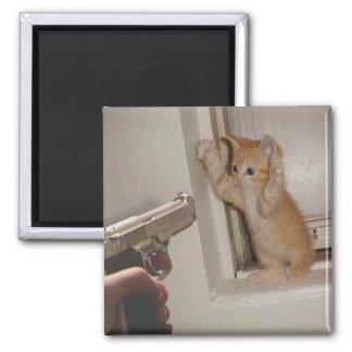Onder schot gehouden katje! magneet