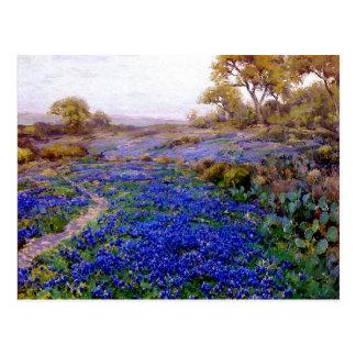 Onderdonk - Bluebonnets bij Schemering, het Briefkaart