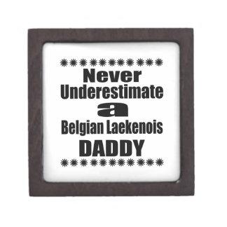 Onderschat nooit Belgische Papa Laekenois Premium Cadeau Doosje