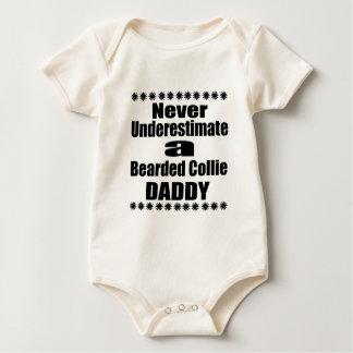Onderschat nooit de Gebaarde Papa van de Collie Baby Shirt
