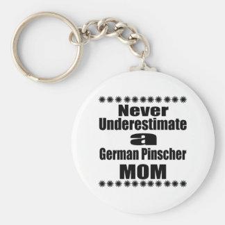 Onderschat nooit Duits Mamma Pinscher Sleutelhanger