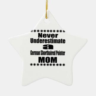 Onderschat nooit het Duitse Kortharige Mamma van Keramisch Ster Ornament