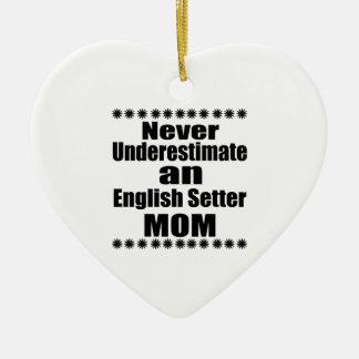 Onderschat nooit het Engelse Mamma van de Zetter Keramisch Hart Ornament