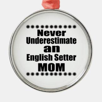 Onderschat nooit het Engelse Mamma van de Zetter Zilverkleurig Rond Ornament