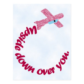 Ondersteboven over u het Briefkaart van Valentijn
