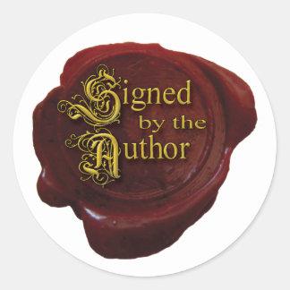Ondertekend door de Sticker van de Auteur