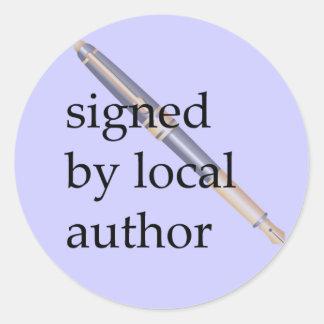Ondertekend door Lokale Auteur Ronde Sticker