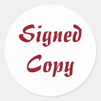 Ondertekend Exemplaar - Ronde Stickers (#53)