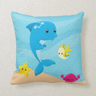 Onderwater dieren sierkussen
