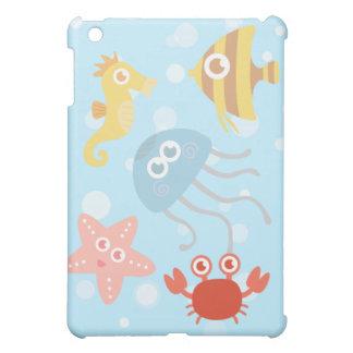 Onderwater thema met schattige zeedieren hoesje voor iPad mini