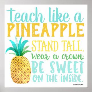 Onderwijs als een Poster van de Ananas