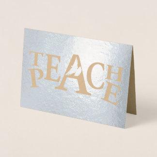 Onderwijs de sloganteksten van de vredes vliegende folie kaarten